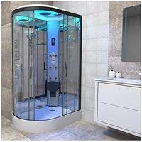 Premium Shower Cabin Enclosure RH Offset Quad 1100 x 700 Black/Clear - Insignia