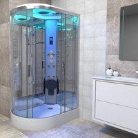 Premium Shower Cabin Enclosure RH Offset Quad 1100 x 700 Chrome/Clear - Insignia