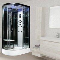 Insignia RH Offset Quad Steam Enclosure Shower Cabin 1200x800 Platinum Range