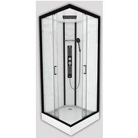 Insignia Square Shower Cabin Enclosure Non Steam 900x900 Monochrome Black Modern