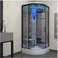 Insignia Steam Enclosure Quadrant Shower Cabin 1000x1000 Platinum Range Black
