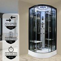 Insignia Steam Enclosure Quadrant Shower Cabin 900x900 Platinum Range Black