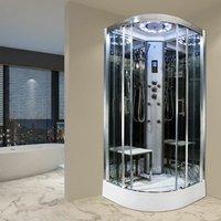 Insignia Steam Enclosure Quadrant Shower Cabin 900x900 Platinum Range Chrome