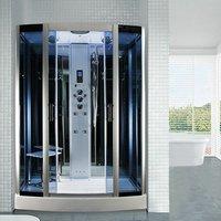Insignia Steam Shower Cabin Enclosure 1500x900 Body Jets Bluetooth Audio INS0509