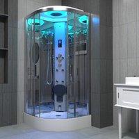 Insignia Steam Shower Cabin EnclosureCubicle 800 x 800 Body Jets Premium Range