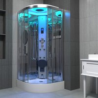Insignia Steam Shower Cubicle Cabin Enclosure 900 x 900 Body Jets Premium Range