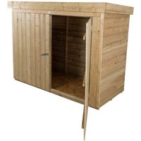 Worcester - INSTALLED 28 x 63 Pent Large Outdoor Store - Pressure Treated (1.9m x 0.9m) - INCLUDES INSTALLATION