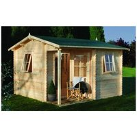 Worcester Log Cabins(f) - INSTALLED 3.6m x 3.6m Log Cabin - 28mm Wall Thickness **Includes Free Shingles** INSTALLATION INCLUDED
