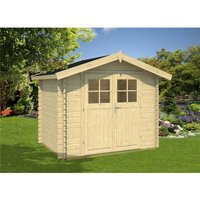 Clifton Log Cabins - INSTALLED 3m x 2m Budget Apex Log Cabin (206) - Single Glazing (28mm Wall Thickness)