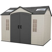 Installed Lifetime 10 Ft. x 8 Ft. Outdoor Storage Shed - Tan