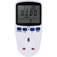 Intelligent socket, intelligent power metering meter, large screen power monitoring, regular model, AC230V~250V,No Backlight-UK Plug
