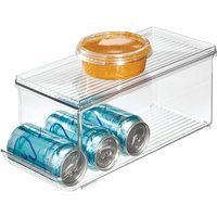 Briday - InterDesign Soda Can Holder for Refrigerator, Kitchen Cabinet, Pantry, Clear