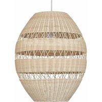 Iphor 52cm Rattan Ceiling Pendant Light Shade - No Bulb