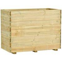 Jardinière avec plancher 100x50x75 cm Bois de pin imprégné