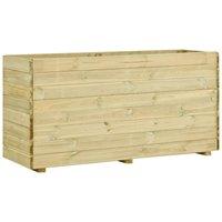 Jardinière avec plancher 150x50x75 cm Bois de pin imprégné