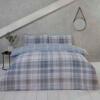 Jasper Check Blue Single Duvet Cover Set Bedding Bed Quilt Set