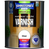 750ml Woodcare Outdoor Yacht Varnish Gloss - Clear - Johnstones