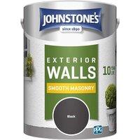 5 Litre Smooth Masonry Paint - Black - Johnstones