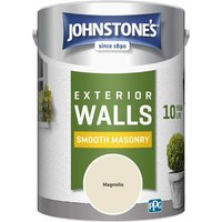 Johnstones 5 Litre Smooth Masonry Paint - Magnolia
