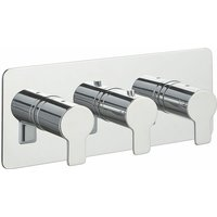 Just Taps Plus - JTP Amore Thermostatic Concealed 3 Outlets Shower Valve - Chrome