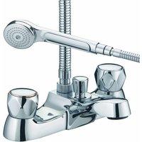 Just Taps Plus - JTP Astra Bath Shower Mixer Tap Deck Mounted - Chrome