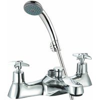 Just Taps Plus - JTP Astra Crosshead Bath Shower Mixer Tap Deck Mounted - Chrome