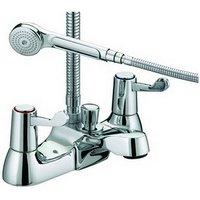 Just Taps Plus - JTP Astra Lever Bath Shower Mixer Tap Deck Mounted - Chrome