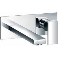 JTP Athena 2-Hole Basin Mixer Tap Wall Mounted Chrome - JUST TAPS PLUS