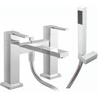 JTP Athena Lever Pillar Mounted Bath Shower Mixer Tap - Chrome
