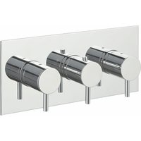 Just Taps Plus - JTP Florentine Thermostatic Concealed Shower Valve with 3-Way Diverter Triple Handle - Chrome
