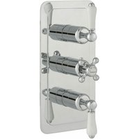 JTP Grosvenor Lever Vertical Thermostatic Concealed 3 Outlets Shower Valve - Chrome