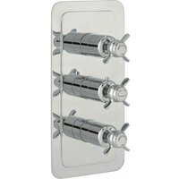 JTP Grosvenor Pinch Vertical Thermostatic Concealed 3 Outlets Shower Valve - Chrome