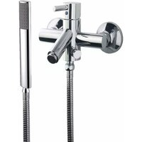 Just Taps Plus - JTP Kavalier Bath Shower Mixer Tap with Kit Wall Mounted - Chrome