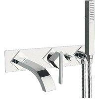 Just Taps Plus - JTP Ki-Tech 3-Hole Bath Shower Mixer Tap Wall Mounted - Chrome