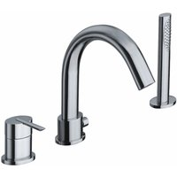 Just Taps Plus - JTP Ovaline 3-Hole Bath Shower Mixer Tap Deck Mounted - Chrome