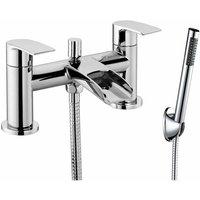 JTP Ravina Pillar Mounted Bath Shower Mixer Tap with Kit - Chrome