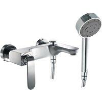 Just Taps Plus - JTP Vue Bath Shower Mixer Tap Wall Mounted - Chrome