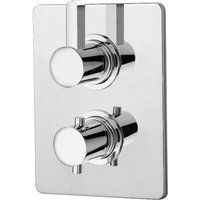 Just Taps Plus - JTP Wings Thermostatic Concealed 1 Outlet Shower Valve - Polished Chrome