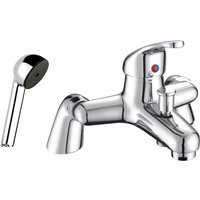 Just Taps Plus - JTP XY Deck Mounted Bath Shower Mixer Tap with Kit - Chrome