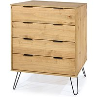 Netfurniture - June 4 drawer chest of drawers Brown pine