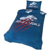 Jurassic World Duvet Cover Set (Double) (Blue/Red/White)