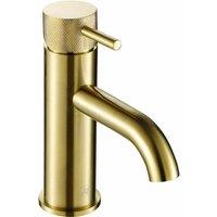 JTP Vos Basin Mixer Tap with Designer Handle - Brushed Brass - JUST TAPS PLUS