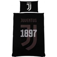 Juventus FC Reversible Mono Single Duvet Set (One Size) (Black)