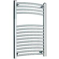 Kartell K-Rail New 25mm Steel Curved Chrome Heated Towel Rail 600mm x 1600mm