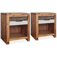 Kaiser 1 Drawer Bedside Table by Brown - Union Rustic