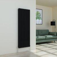 Karlstad 1600 x 546mm Black Double Flat Panel Vertical Radiator