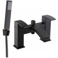 Kartell Fiuto Nero Bath Shower Mixer Tap Deck Mounted - Black