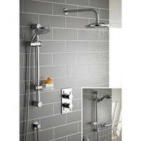 Kartell Plan Thermostatic Concealed Mixer Shower With Adjustable Slide Rail Kit And Overhead Drencher - KARTELL UK