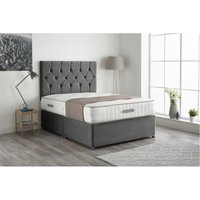 Kashmera Pocket Sprung Memory Foam Silver Divan bed With 2 Drawer Same Side And Headboard Single