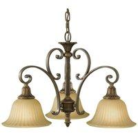 Elstead Kelham Hall - Multi Arm Chandelier 3 Light Bronze, Gold Finish, E27